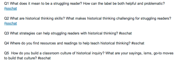Here's our questions for tonight. #sschat http://t.co/Fd08QPIHgt