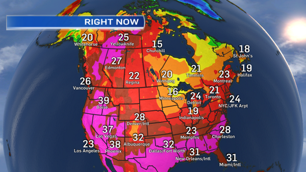 at 5pm...it's hotter in Yellowknife than Los Angeles, Memphis & Toronto. http://t.co/G4iSkU2lku