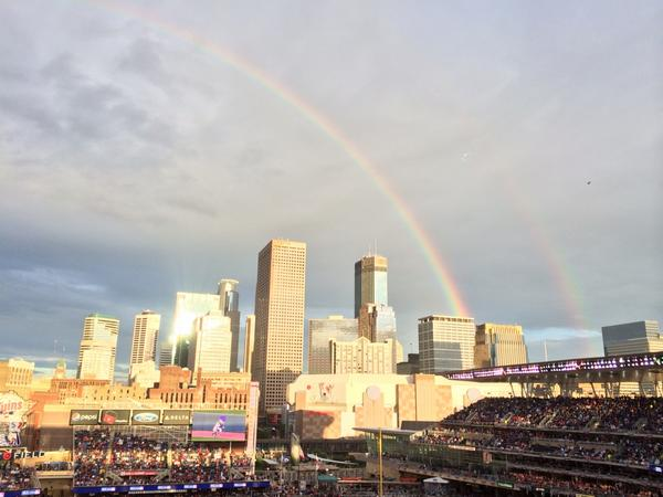 Are you kidding me?!? Double rainbow over #hrderby: http://t.co/afxE5LKIJR