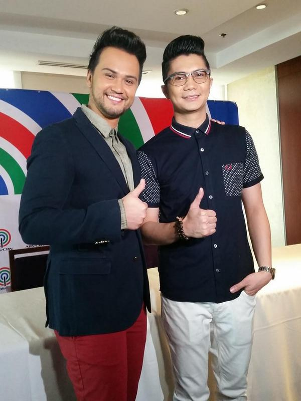 Photo of Billy Crawford & his friend celebrity  Vhong Navarro -