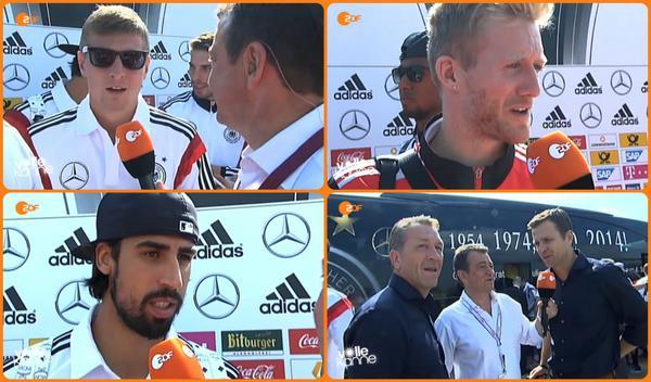 Es geht weiterhin nur im Schneckentempo voran. Die ersten #Weltmeister-Interviews in Berlin: http://t.co/Iw4Fu6NVpH http://t.co/uDklFfifwQ