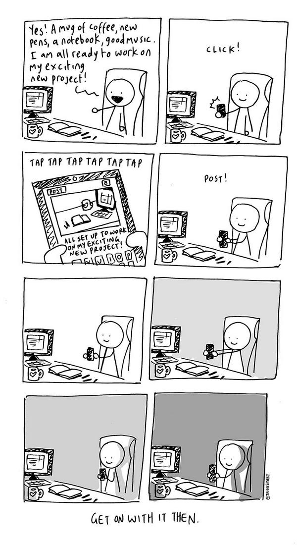 Spot on. RT @jamiesmart: i drew a comic about your exciting new project: http://t.co/XmYwZ8Bq4H