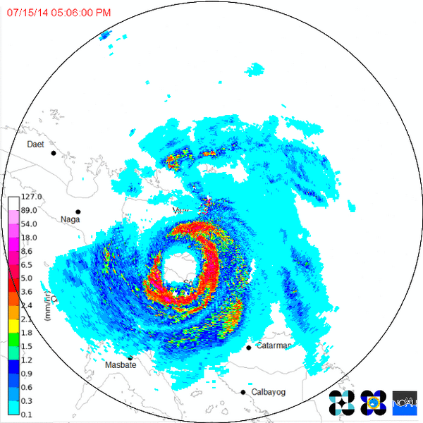 #Rammasun/#GlendaPH landfall near Legazpi City... full radar loop at http://t.co/TDjj51aoTI http://t.co/1OXeKuZQui