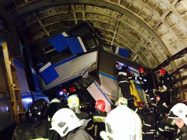 Авария в московском метро, 16 человек погибли (видео)