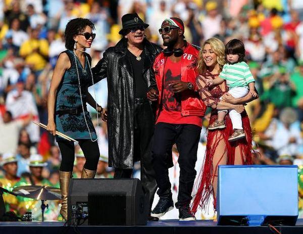 Mondiali Brasile 2014, Cerimonia di Chiusura con Shakira e Carlos Santana