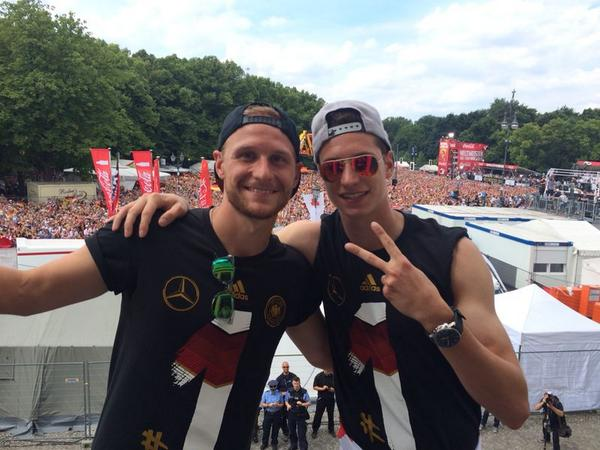 Photo of Benedikt Höwedes & his friend football player  Julian Draxler - teammate