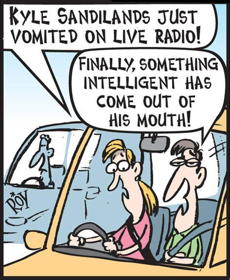 Image result for kyle sandilands cartoon
