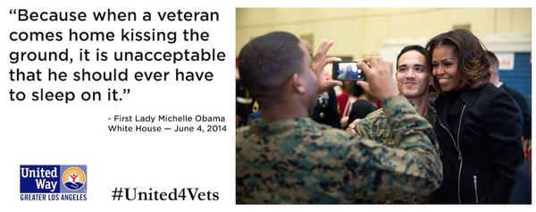 We join @FLOTUS in making a commitment to end veteran homelessness by 2015. RT if you agree. #United4Vets http://t.co/BBWiZ66Fa9