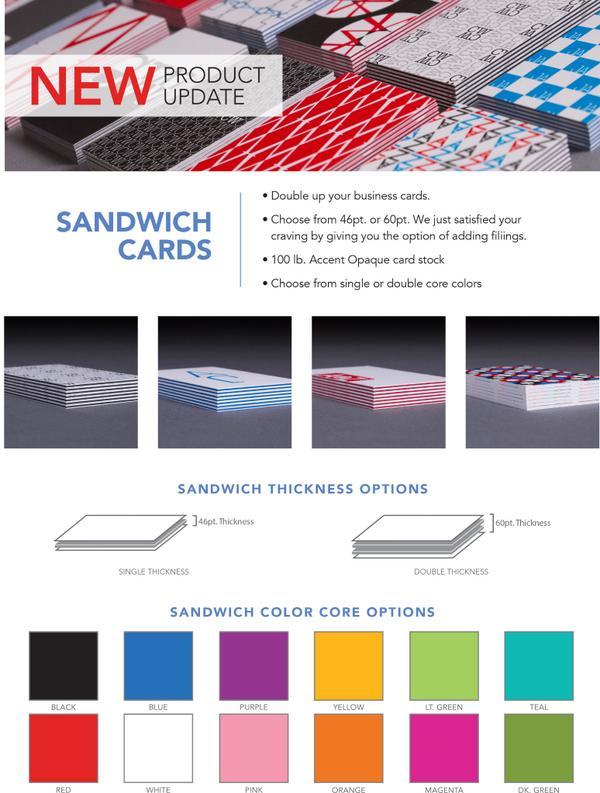 Overnight Prints On Twitter New Sandwich Business Cards Httpt