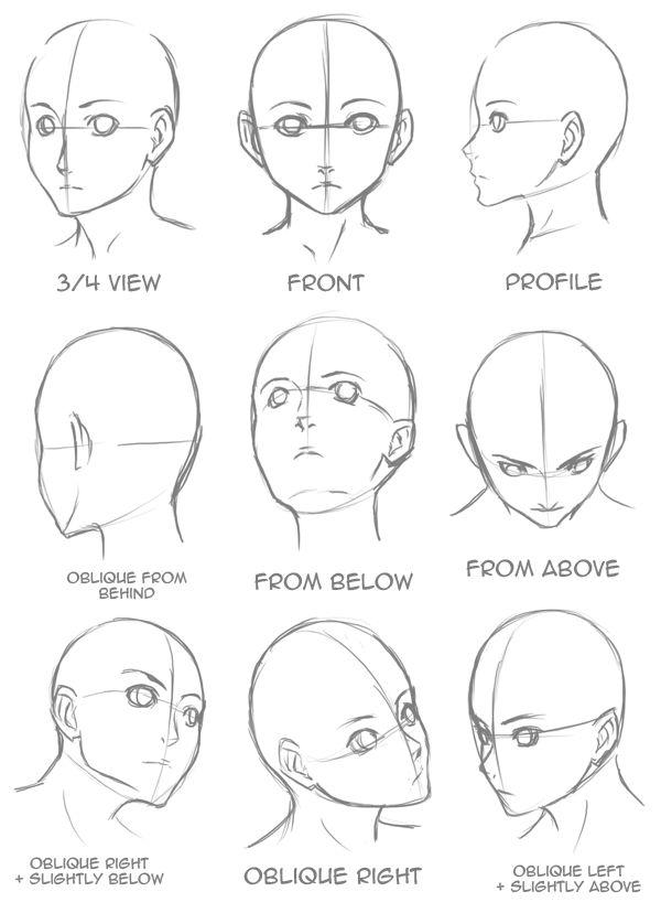 deviantart on twitter   u0026quot are you having trouble drawing heads in different directions  here are a