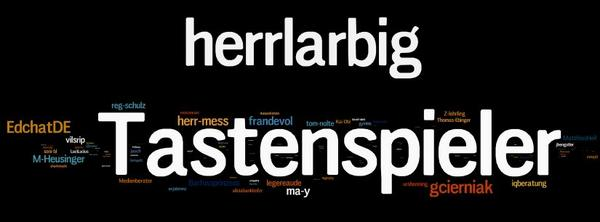A7:  @DaHugo82  Hier doch noch das Wordle der TN des #EDchatDE MIT den Hauptpersonen @tastenspieler und @herrlarbig. http://t.co/D1iV7t6wTD