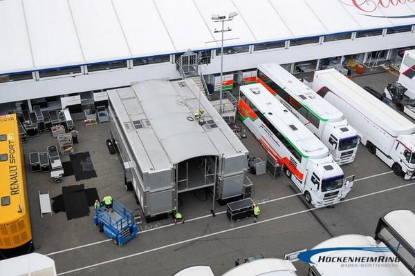 Are in these trucks the @clubforce cars? What do you think? ;) #F1 #GermanGP