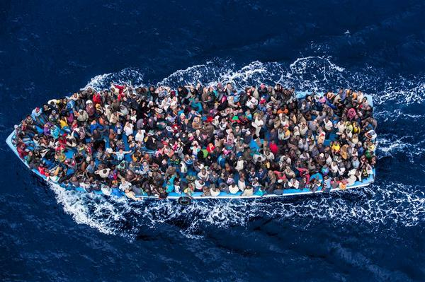"""The helicopter is the first thing the migrants see after spending days at sea"" @massimosestini1 http://t.co/YaBmcDjA7L"