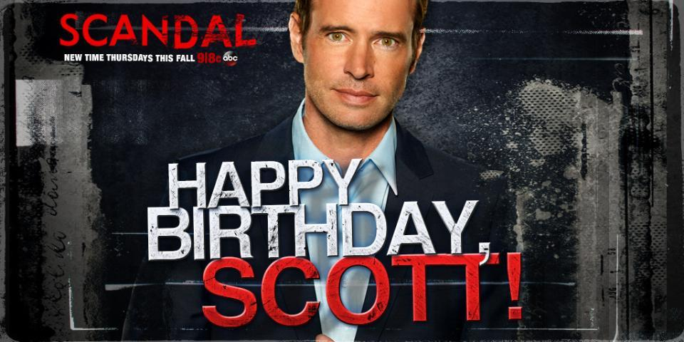 RT @ScandalABC: Gladiators, make sure to wish @scottkfoley a very Happy Birthday! #Scandal http://t.co/Tb0eTZSPVV