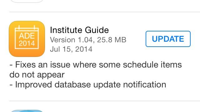 Twitter / jnxyz: Update your institute app people ...