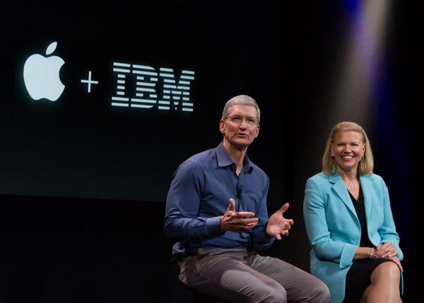 Today Apple and IBM announced a landmark enterprise partnership.  Thanks Ginni!  #Apple #IBM http://t.co/0Rq48p7t7i