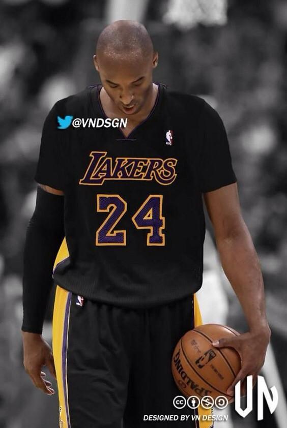 23f8d6922e63 ... discount code for kobe bryant teamkb24 lakers hollywood night jerseys  are now long sleeved starting next