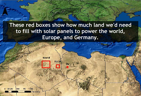 It would take an area of just 254 kilometers squared filled with solar panels to power the entire world - https://t.co/batZ48P3aq