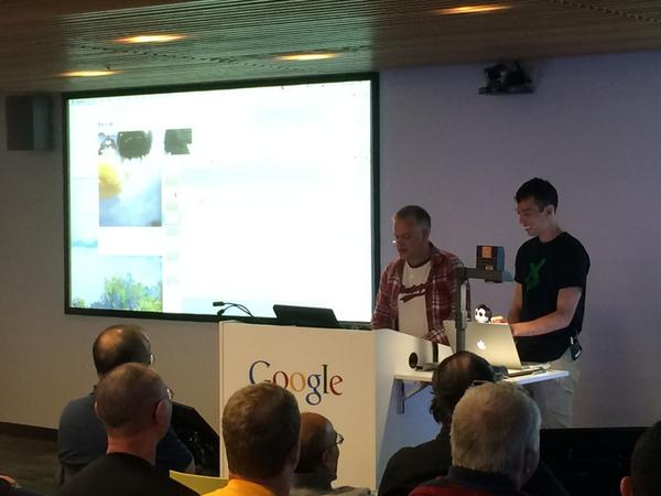 Tim and Alex talking about webRTC at Google SF.