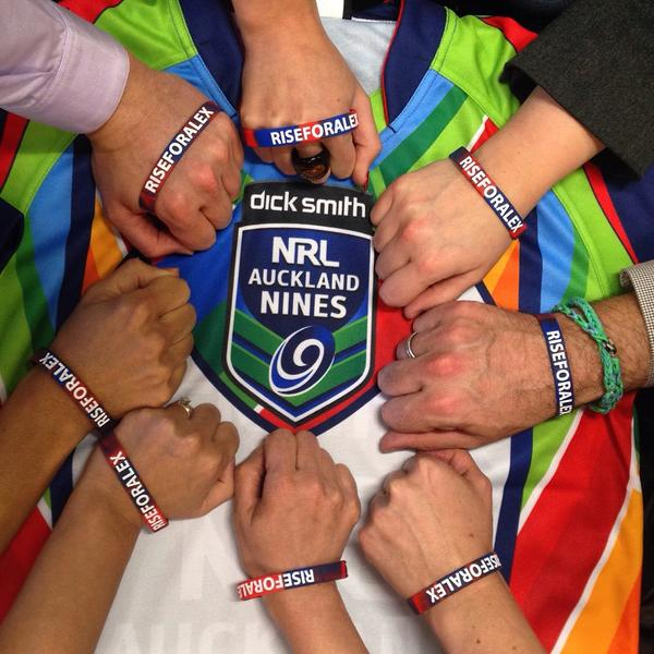 @NRLAKL9s team showing our support #RiseForAlex Get your bands online at http://t.co/2TkUFB3PNZ