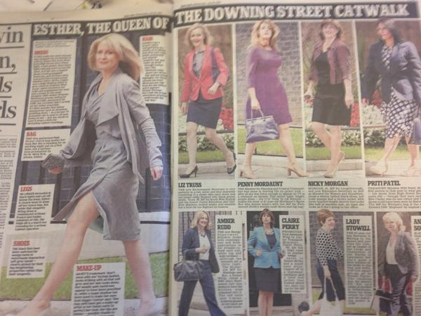Daily Mail today about new lady ministers on 'downing street catwalk' beyond parody! #mediasexism @WIJ_UK http://t.co/4enj8iWYPN