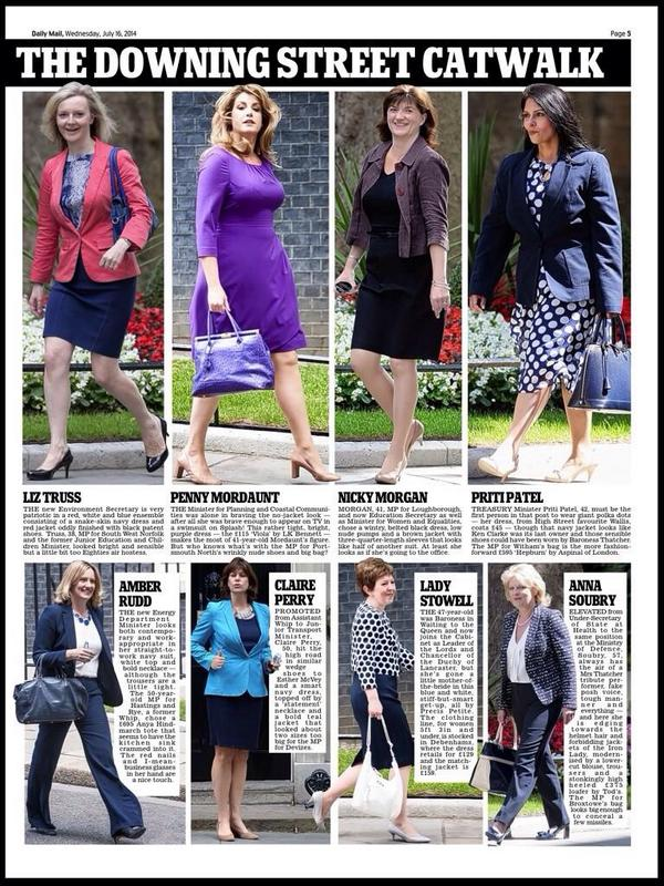 Not one mention of my shirt (Austin Reed, now you ask) or tie (M&S) in today's newspapers. #everydaysexism #reshuffle http://t.co/hSMwnmenOt