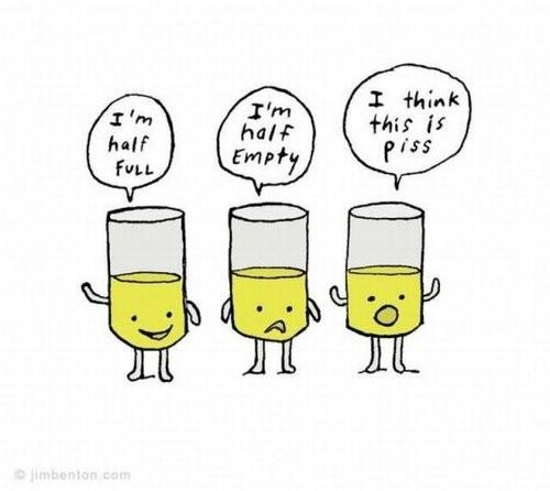 Cognitive bias - is your glass half empty or half full? How optimistic are you? Cog bias testing #CSFFSF2014 http://t.co/21GMw1nAjz
