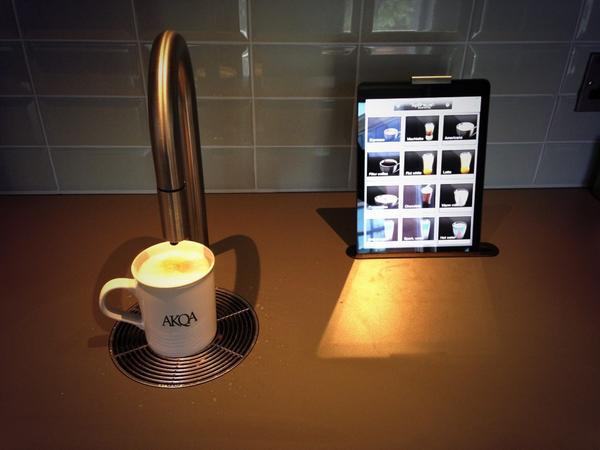Coffee machine in the kitchen @ AKQA London. http://t.co/xo1yzKHGsx