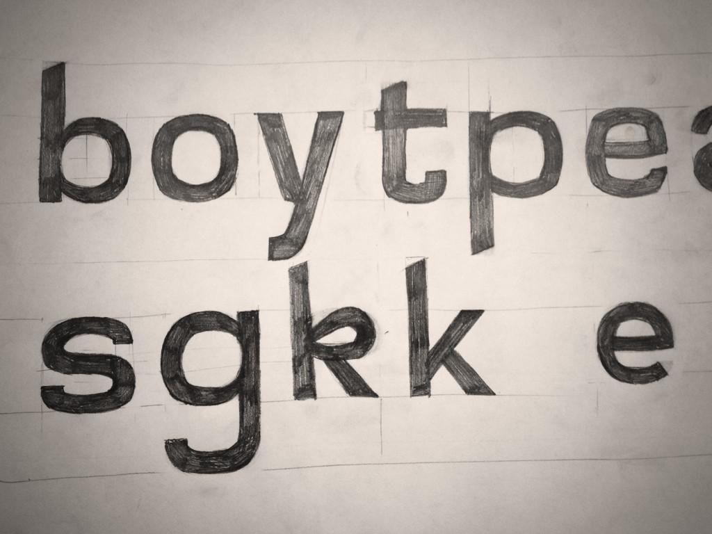 My first typeface sketch ever