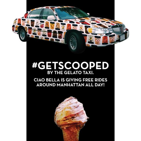 Today is the day. We will be giving out free rides and gelato in @NYC.   Come find us! #getscooped #ciaobellagelato http://t.co/MvfEzg6SM3
