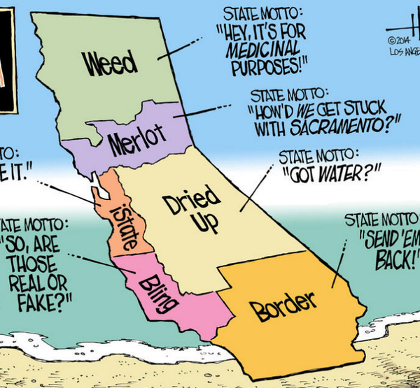 What the 6 California states SHOULD be called (with bonus state mottos) http://t.co/rdSSw8fPe3 http://t.co/cELnY9wwLL