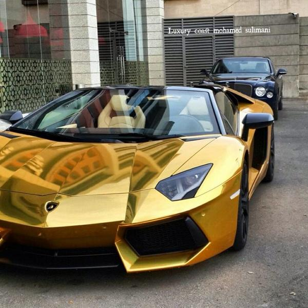 Diamond Cars On Twitter Gold Plated Aventador Http T Co