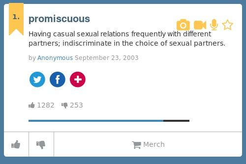 what does sexual promiscuity mean