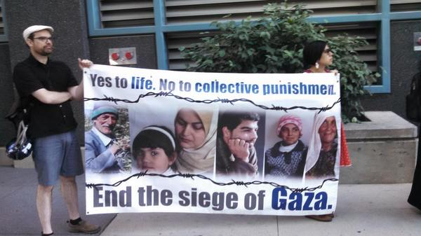 """Yes to life, no to collective punishment."" #GazaUnderAttack http://t.co/FIxD3qfvmb"