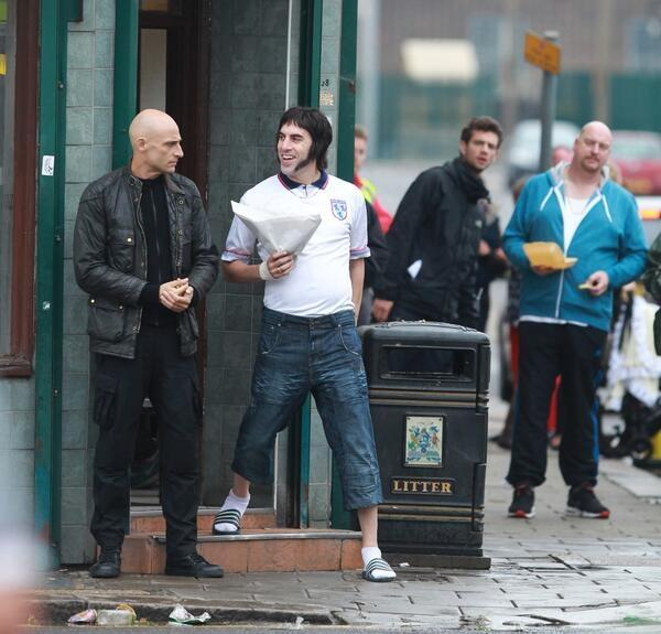 Sacha Baron Cohens next film is about being a Grimsby football hooligan [Pictures]