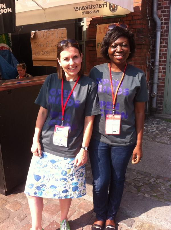 On the #okfest14 info desk today! Selling lovely t-shirts to people who are hot & sticky & want to change!! http://t.co/oIBC1zu1PV