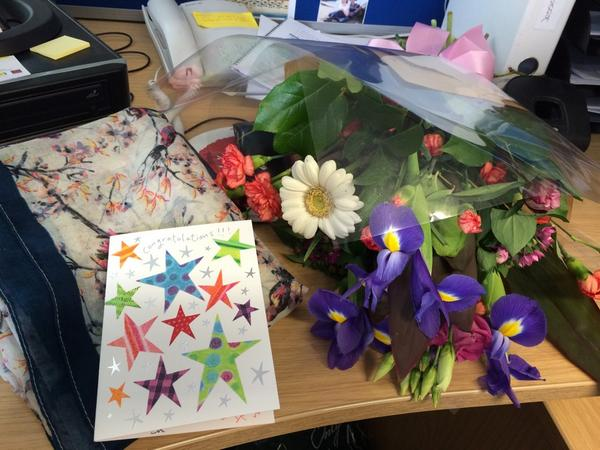 Fabulous graduation presents from my wonderful @MCPCRCCardiff colleagues - thank you all so much! #CUGrad2014 http://t.co/1AqDJQQKrf