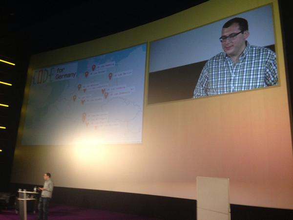 Wohoo! @erichysen mentioning us as best practice in his keynote at #okfest14  #honored http://t.co/rdUCzXgQBL