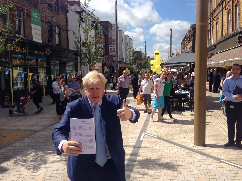 At newly improved East Street, Bromley I launched my Action for High Streets plan #summerofhighstreets http://t.co/mK9PpEJAV8