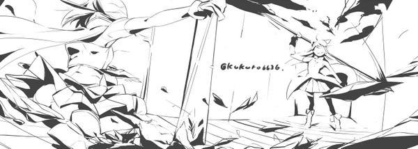 杏子「この程度かい?」 さやか「まだまだ!」 #まどマギ版真剣深夜のお絵かき60分一本勝負   時間と描く速さが