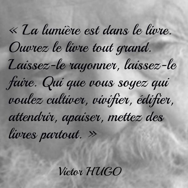 """Favori Pocket on Twitter: """"L'amour des livres #Citation #VictorHugo  NM64"""