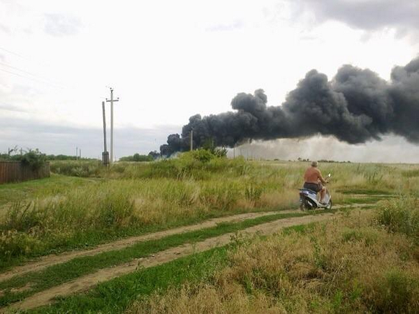 and here's another picture from the scene of the Ukraine crash of a Malaysian airliner. http://t.co/DFwdhaGA0u