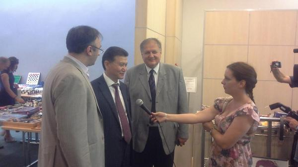 Kirsan Ilyumzhinov visiting International Championship of Vojvodina in Novi Sad