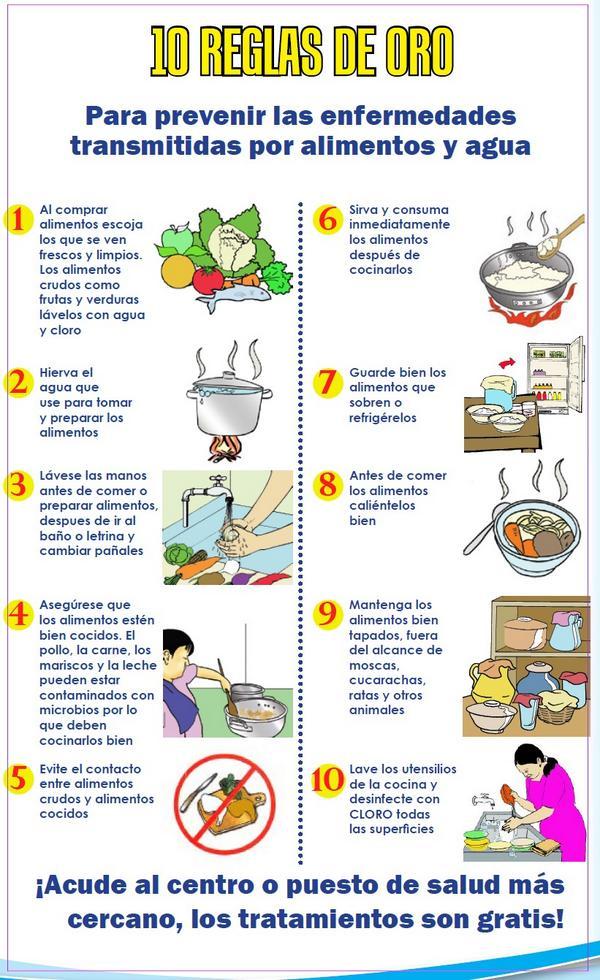 Das guatemala sur on twitter las 10 reglas de oro te for Manual de limpieza y desinfeccion para una cocina