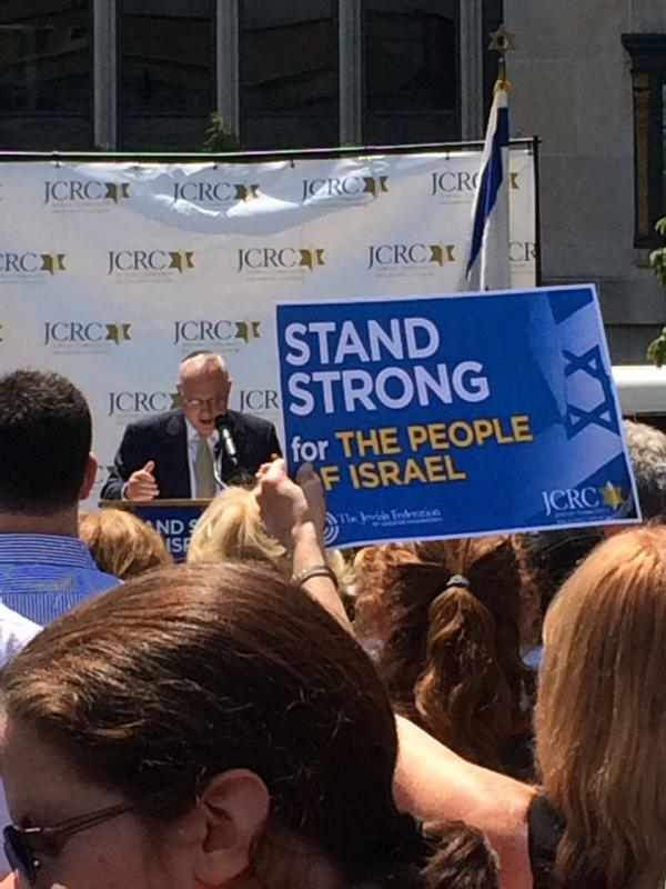 RAC Director Rabbi Saperstein addresses the crowd at today's Stand Strong w/#Israel rally in #DC @JCRCgw @JFGW http://t.co/OwU6UjxfrH