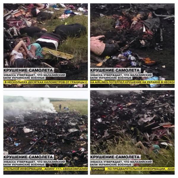 Latest pictures of crash scene #MalaysianAirlines #MH17 #Ukraine http://t.co/uzIS41ciRD