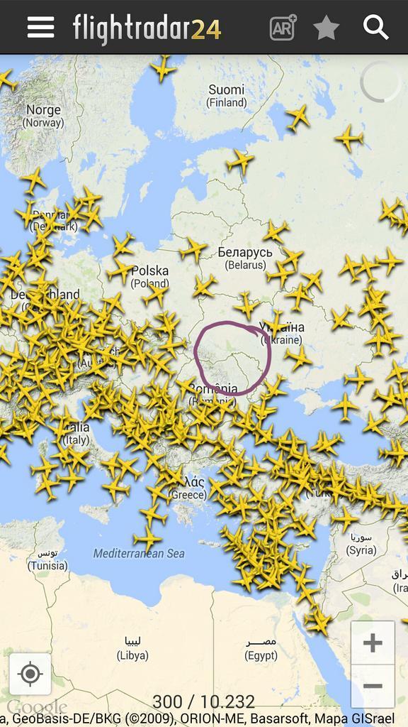 Olhem essa imagem que printei agora do APP do FlightRadar ... cc @Cardoso http://t.co/fMLJ5tSh7x