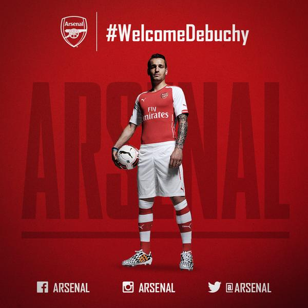 It's official - Mathieu Debuchy has signed for @Arsenal! Get the details here: http://t.co/hEHyrLXbLk #WelcomeDebuchy http://t.co/xOijsqmf1b