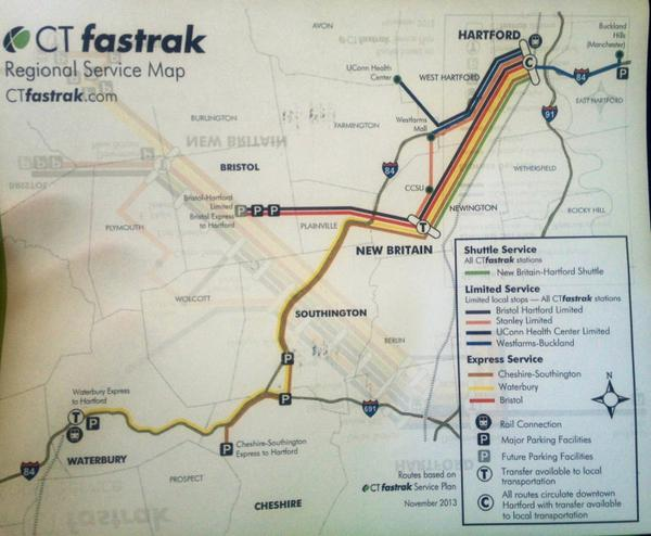 @ctfastrak is more than a #NewBritain-to-#Hartford busway; it's a network w/ 1-seat rides f/ as far away as Waterbury http://t.co/Q9HFEy60z4