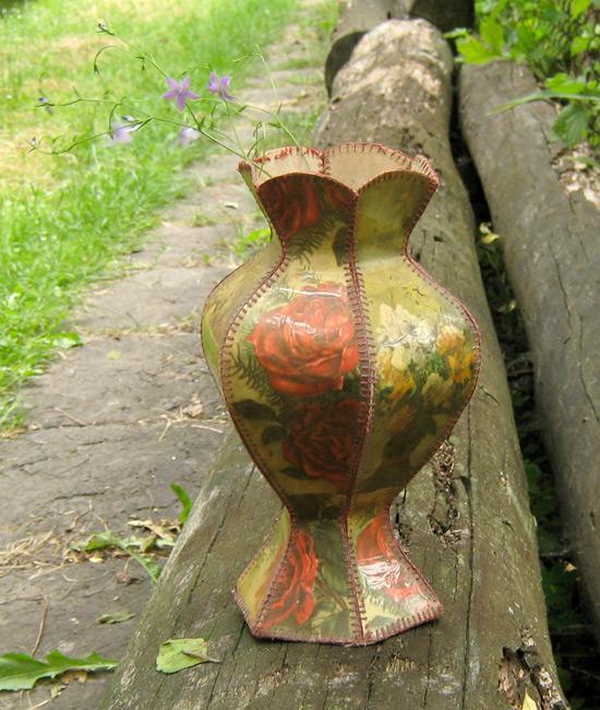 Шары открытке, сделать вазу из открыток